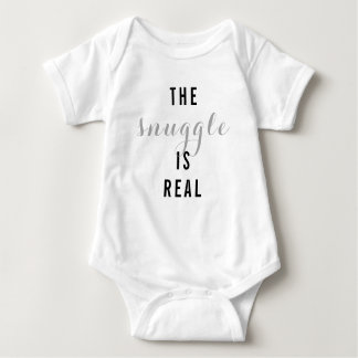 The Snuggle Is Real Baby Bodysuit