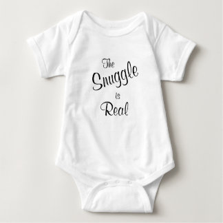 The Snuggle is Real Baby One Piece Tee