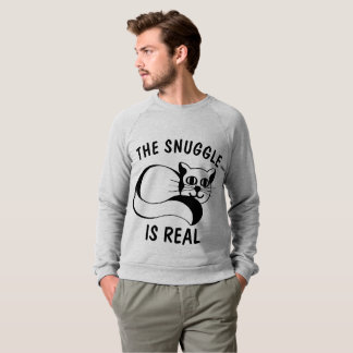 THE SNUGGLE IS REAL, CAT t-shirts & Sweatshirts