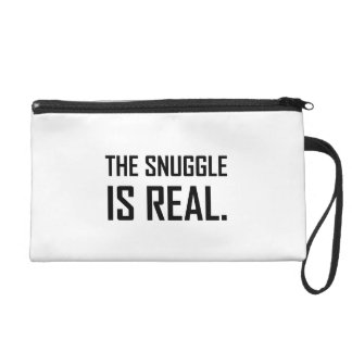 The Snuggle Is Real Wristlet