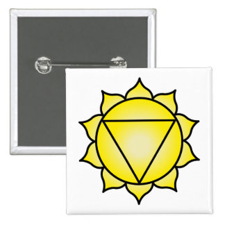 The Solar Plexus Chakra 15 Cm Square Badge