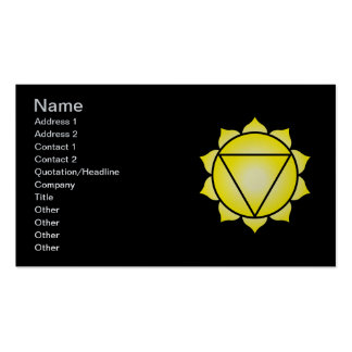 The Solar Plexus Chakra Double-Sided Standard Business Cards (Pack Of 100)
