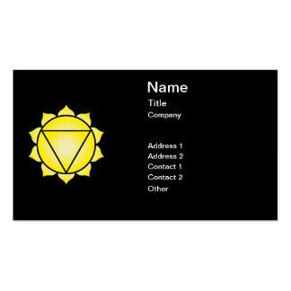 The Solar Plexus Chakra Business Card Templates