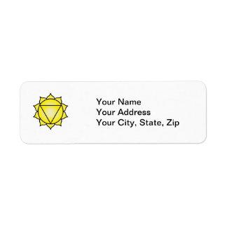 The Solar Plexus Chakra Return Address Label