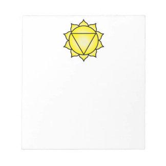 The Solar Plexus Chakra Note Pad