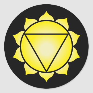 The Solar Plexus Chakra Round Sticker
