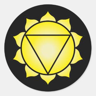 The Solar Plexus Chakra Round Sticker