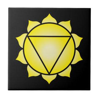 The Solar Plexus Chakra Ceramic Tile