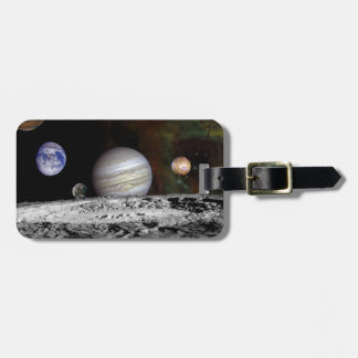 The Solar System Luggage Tag