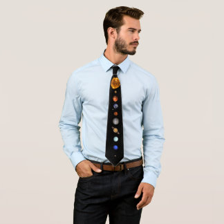 THE SOLAR SYSTEM - major and minor planets Tie