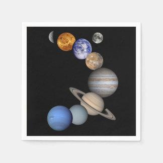 The Solar System Paper Serviettes
