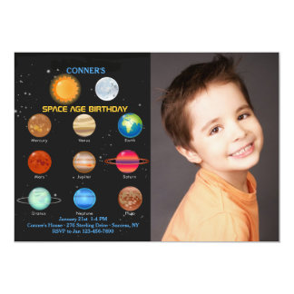 The Solar System Photo Invitation