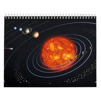 The Solar System - Planet by Planet Wall Calendars