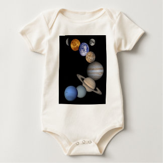 The solar system range our planets baby bodysuit