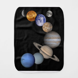 The solar system range our planets burp cloth