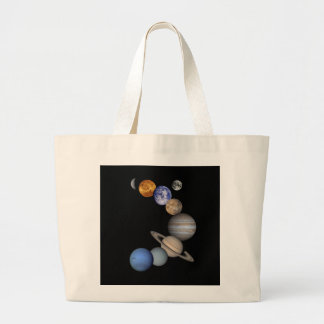 The solar system range our planets large tote bag