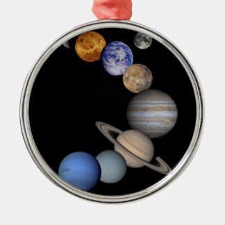 The solar system range our planets metal ornament