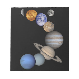 The solar system range our planets notepad
