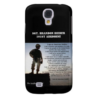 The Soldier's Creed Military Warrior Personalized Samsung Galaxy S4 Cover