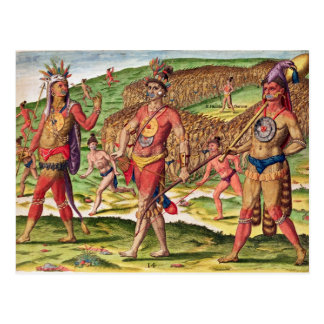 The Soldiers of Outina Marching to Cut Postcard