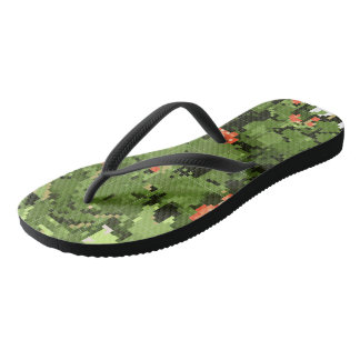 The sole of the sneakers with a mosaic pattern thongs