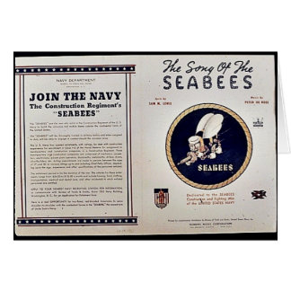 The Song Of The Seabees Card