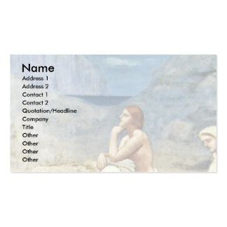 The Song Of The Shepherd By Puvis De Chavannes Pie Business Card