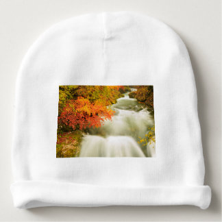 The Soteska Vintgar gorge in Autumn Baby Beanie