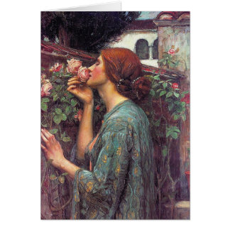 """The Soul of The Rose"" by John W. Waterhouse Card"