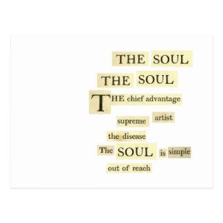 the soul postcard
