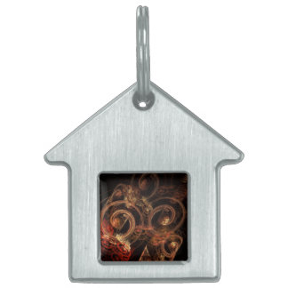 The Sound of Music Abstract Art House Pet Name Tag