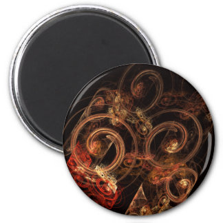 The Sound of Music Abstract Art Round Magnet