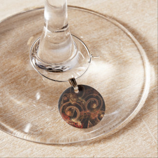 The Sound of Music Abstract Art Wine Charm