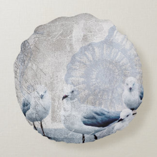 The sound of the ocean round cushion