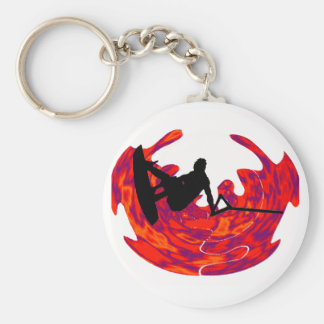THE SOUND WAKEBOARDER BASIC ROUND BUTTON KEY RING