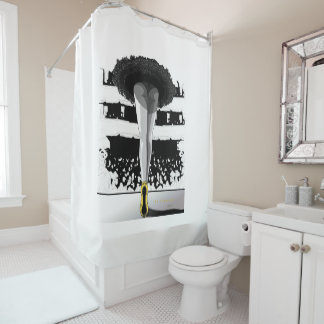 The south Him Pointe Shower Curtain