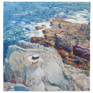 The South Ledges, Appledore by Childe Hassam Cloth Napkins