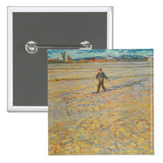 The Sower, 1888 (oil on canvas) 15 Cm Square Badge