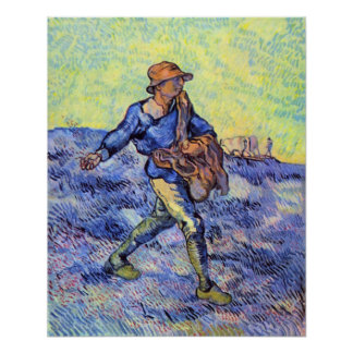 The Sower 1 by Vincent van Gogh Poster