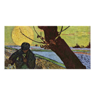 The Sower By Vincent Van Gogh Photo Card Template