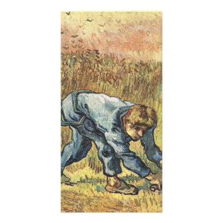 The sower with sickle by Vincent van Gogh Customized Photo Card