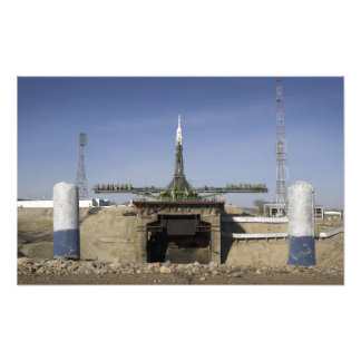 The Soyuz rocket is erected into position Photo Art