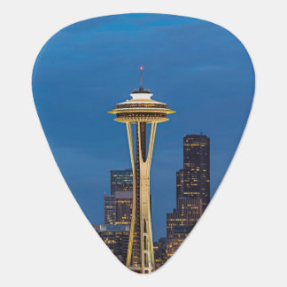 The Space Needle and downtown Seattle Guitar Pick