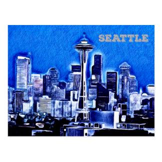 The Space Needle - Seattle, Washington Postcard
