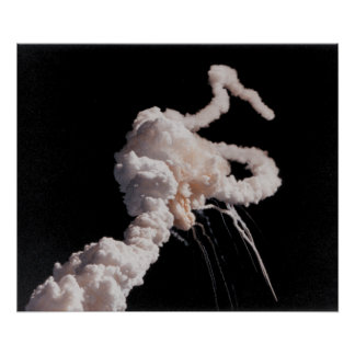 The Space Shuttle Challenger Disaster Poster