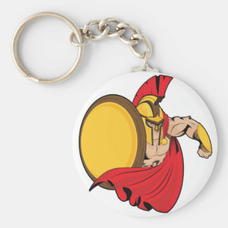 The Spartan Basic Round Button Key Ring