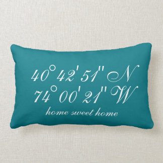The Special Places | Geographical Coordinates Lumbar Cushion