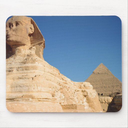 The Sphinx and The Pyramid of Khafre, Giza Mousepad