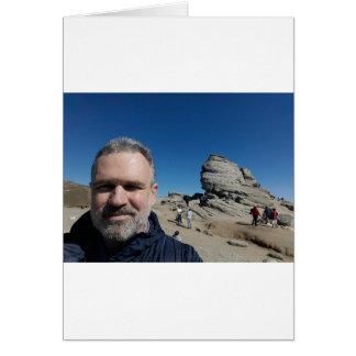 The Sphinx, Bucegi Mountains, Romania (design #2) Card