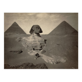 The Sphinx of Giza Partially Excavated Postcard